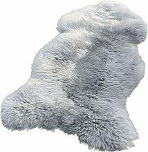 Lammfell Schaffell Silber grau echtes Fell