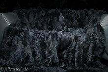 Lammfelldecke Toscana Lammfell schiefergrau 200 x