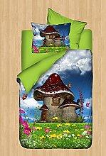 LaModaHome 4PCS Luxus Soft farbigen Schlafzimmer