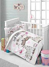 LaModaHome Baby-Bettwäsche-Set, Motiv Giraffe mit