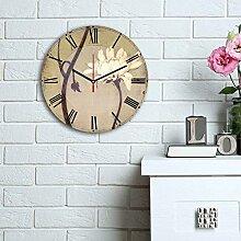 LaModaHome Wanddekoration, 100% MDF, echte Uhr,