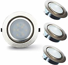 Lampaous 2W Dimmbar LED Möbeleinbauleuchte