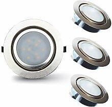 Lampaous 3X 2W Kaltweiß LED Einbaustrahler