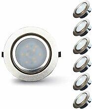 Lampaous 6X 2W LED Möbelleuchte Dimmbar