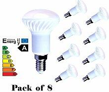 Lampaous 8 x R50 LED 5 W E14 Ersatz für Reflector R50 LED Glühbirne, energiesparend, Weiß