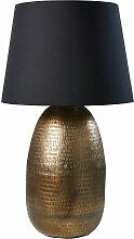 Lampe aus ziseliertem goldfarbenem Metall,