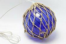 Lampe Boje Glas Dekoration blau Sailor