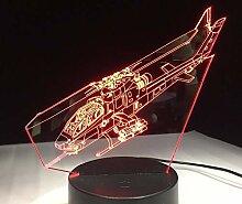 Lampe des Hubschrauber-3D LED mit Nachtlichtern