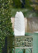 Lampe Farn Porzellan Höhe 18 cm, Beleuchtung,