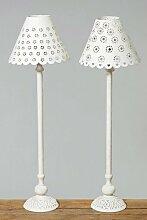 Lampe Fleur 2sort.H59cm