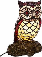 Lampe im Tiffany Style Tiff102 Figurenlampe Eule