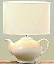 Lampe Kaffeekanne/Teekanne H33 D25cm creme