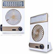 Lampe LED Taschenlampe Lüfter Solar Wiederaufladbar Camping