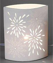 Lampe, Leuchte AUREA BLUME, 28x23cm, weiß, rund,