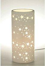 Lampe, Leuchte STERNE Porzellan zylindrisch D.