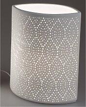 Lampe, Leuchte SWING PUNKTE oval B. 18cm H. 23cm weiß Formano (35,00 EUR / Stück)