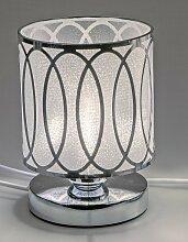 Lampe, Leuchte WELLE rund H. 20cm D. 14cm silber