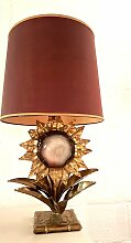 Lampe mit Messing & Achat von P. Mas-Rossi, 1970er