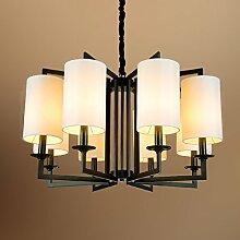 Lampe Modern Living Room Kronleuchter Hotel schmiedeeiserne Leuchter-A