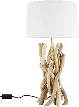 Lampe NIRVANA aus Treibholz mit Lampenschirm aus