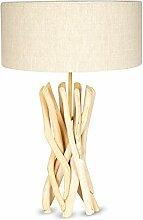 Lampe Stehlampe 62cm Hoch Holz Holzlampe Unikat