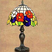 Lampe-Tiffany Europäischen Glas Nachttischlampe Retro Wohnzimmer Schlafzimmer Studie amerikanisches