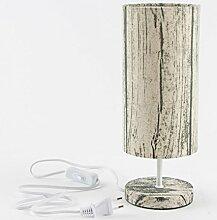 Lampe Tischlampe Regina natur beige 31x12cm