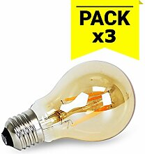 Lampe Vintage dimmbar LED E27A604W 1800K)–Party-Dekoration Hochzeit–Ambiente Beleuchtung Retro romantischen Events (Pack (3Stück)–barcelonaled
