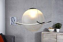 Lampe Wohnzimmer Modern Design Kugel Schirm Glas