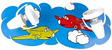 Lampencity Kinderlampe mit Flugzeugmotiv,