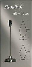 Lampenfuß silber für Lampenschirm Leuchtstern Standfuß Metallfuss Lampe Stern