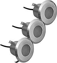 Lampenlux 3er Set LED Bodeneinbaustrahler