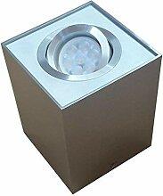 Lampenlux Aufbaustrahler, Aluminium