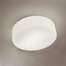 Lampenlux LED Aussenleuchte Delta IP44 230V E27 Ø38cm Deckenlampe Badlampe Rund Glas Weiß Terasse Deckenleuchte