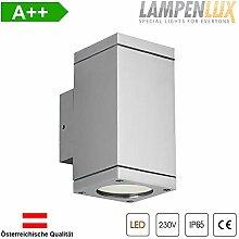 Lampenlux LED Aussenleuchte Elton IP65 GU10 Eckig