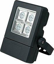 Lampenlux LED Außenleuchte Ian Fluter Schweinwerfer Gartenlampe Wegeleuchte Schwarz IP65