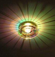 Lampenlux LED-Einbaustrahler Ramus rund Glas Gold