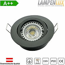 Lampenlux LED Einbaustrahler Samila rund 230V GU10