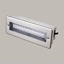 Lampenlux LED Einbaustrahler Santuro IP68 Gartenlampe 230V Außenleuchte wasserdicht Weiß Poolbeleuchtung Teichstrahler Spo