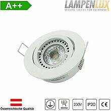 Lampenlux LED Einbaustrahler schwenkbar ultra