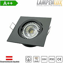 Lampenlux LED Einbaustrahler Snap eckig 230V GU10