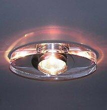 Lampenlux LED-Einbaustrahler Spot Rachel rund Glas