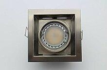 Lampenlux LED-Einbaustrahler Spot Rocky nickel