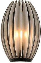 Lampenlux LED Wandlampe Bono Deko Glas Opal Braun