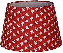 Lampenschirm 25cm Rot Sterne