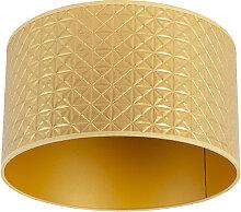 Lampenschirm 35/35/20 gold mit Dreiecken