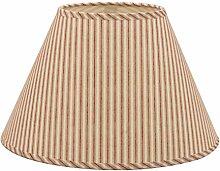 Lampenschirm aus Baumwolle, konisch, roter
