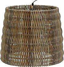 Lampenschirm aus echtem Rattan Grau, Geflochtener