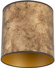 Lampenschirm Bronze 25/25/25 mit goldenem Interieur