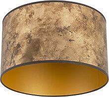 Lampenschirm Bronze 35/35/20 mit goldenem Interieur